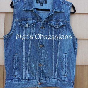 Women's Embroidered Denim Vest