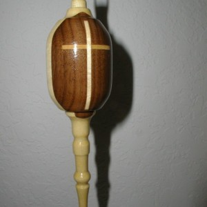 Wood Ornament with Cross  #5