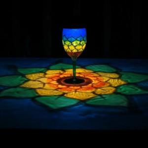 HandPainted Solar SunFlower Luminary