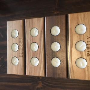 Oak Premium Wood   Tea Light Tealight Candle Holder - Not Engraved