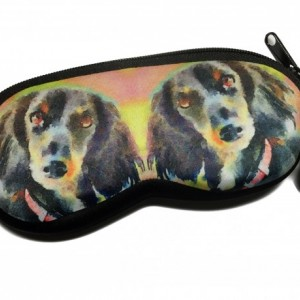 Watercolor Dachshund Neoprene Eyeglass Case