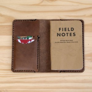 Leather Field Notes Cover with Card Slot, Field Notes, Leather Notebook Cover Credit Card, Leather Memo Cover, Leather Field Notes Wallet