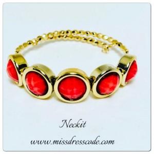 Beaded Coral Bracelet
