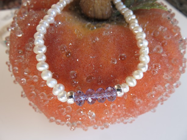 "Mini Pearls & ""Tanzanite"" Swarovski"