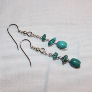 Turquoise Earrings, Wire Wrapped Earrings, Southwestern Earrings, Southwestern Jewelry