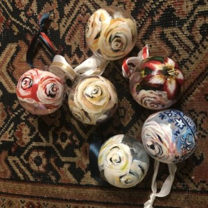 Floral Hand Painted Ornaments