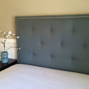 Headboard Button Tufted with nail head trim