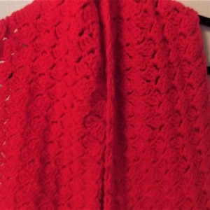 Warm Cozy Solid Red Scarf, Women/Men, Handmade in USA
