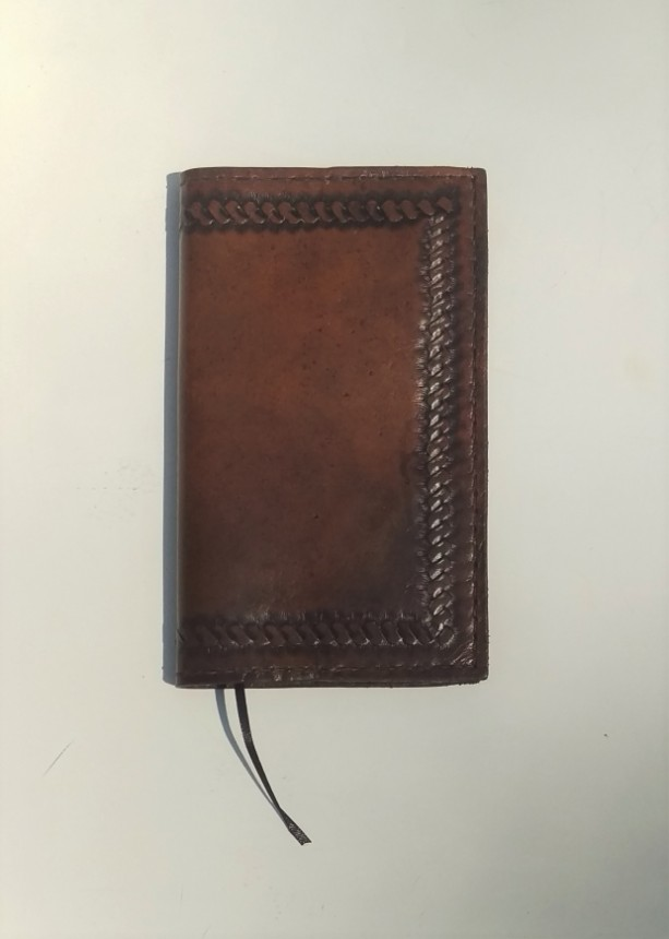 Dark Brown Leather Journal/Notebook, Refillable, Acid free lined paper