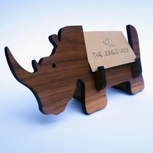 Rhino business card holder for desk