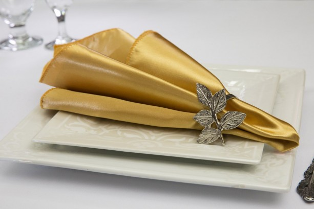Gold Napkin Satin (Pack of 12)