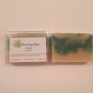 Wasabi cold process soap handmade vegan soap foodie soap novelty soap handcrafted soap