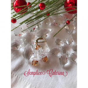 White Patina Christmas Tree Earrings