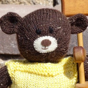 Brown Bear, Baby Shower Gift, Teddy Bear, Hand Knitted Bear, Stuffed Animal