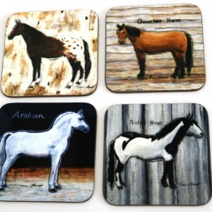 Horse, Wood Coasters, Horse Print, Horse Memorial, Wooden Coasters, Pet Loss Gift, Drink Coasters, House Warming Gift, Horse Breeds