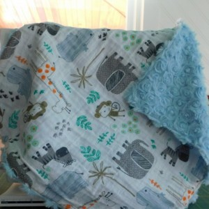 "Baby gift...baby blanket-toddler blanket- tag along blanket-16""×16"""