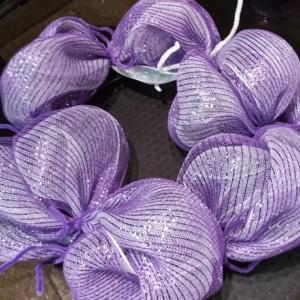 Purple Passion Mesh Wreath