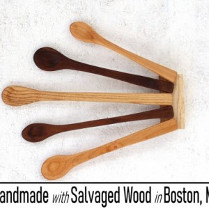 Carved Wooden Spoon - Handmade With Salvaged Wood