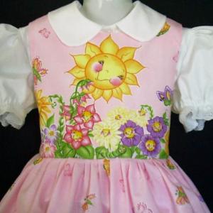 NEW Handmade Daisy Kingdom Garden Floral Border Dress Custom Size 12M-14Yrs