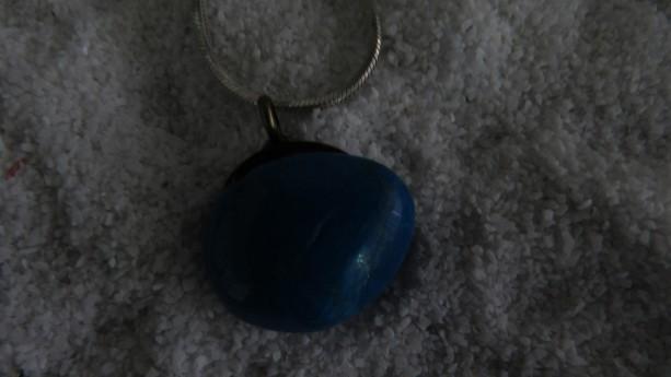 Turquoise Polished Rock Pendant