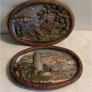 Two Rustic Wall Plaques