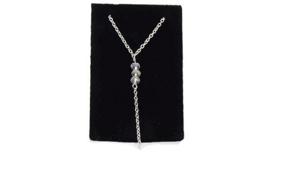 Long Chain Beaded Necklace