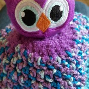 Crocheted Owl Beanie