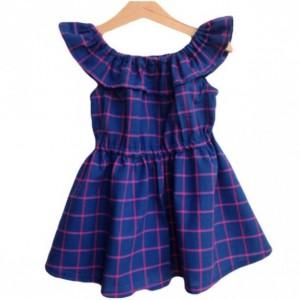 Ruffled Neckline Organic Dress