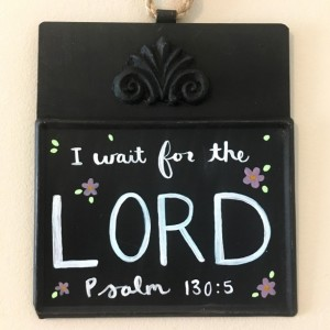 2 Mini Hanging Chalk Boards with Hand Painted Scriptures