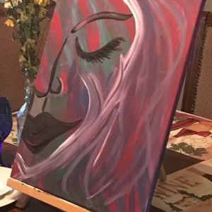 The She Abstract painting