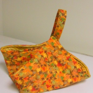 Orange Fall Leaves Casserole Carrier Tote