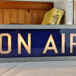 On Air Studio warning sign Blue/Metallic finish