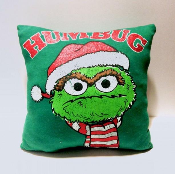 Oscar the Crouch T-shirt pillow