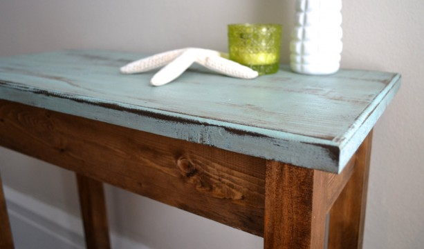 the jane - blue pine side table | aftcra