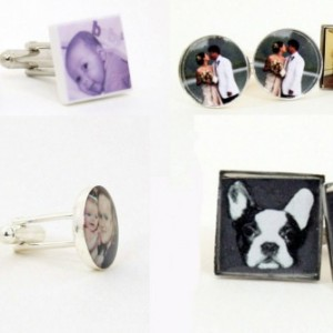 Your Own Photo Cufflinks For Him (MTO) Handmade - Tie Tack - Cuff links - Father's Day - Wedding