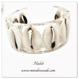 Cowry Shell in Resin Cuff Bangle