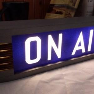 On Air Studio warning sign Blue/Metallic finish