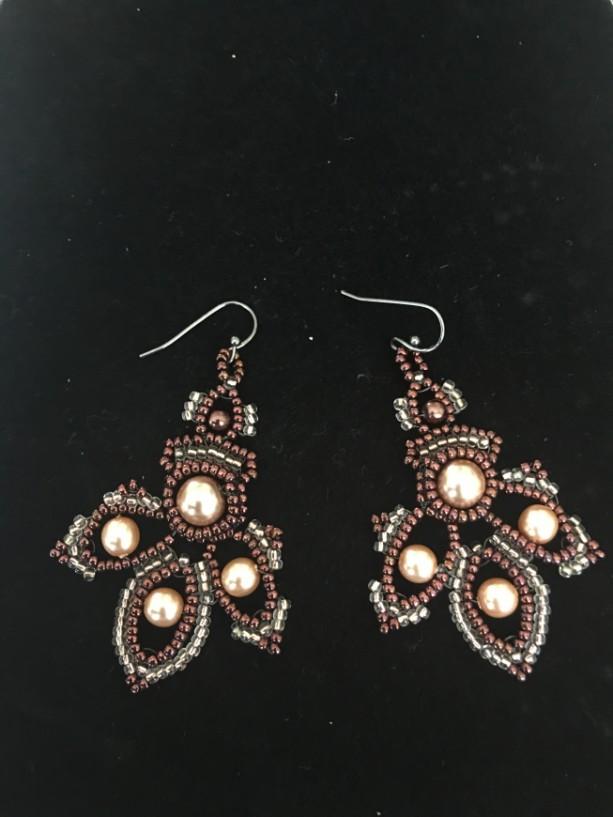 Trillium Pendant Earrings