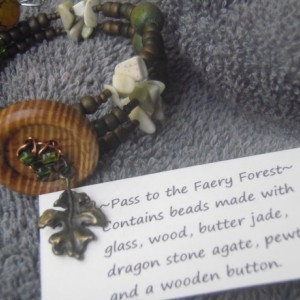 Faery and Pirate Memory Wire Bracelets