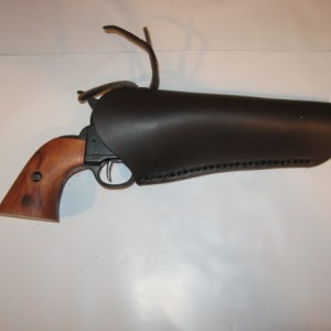"Straight Drop Cowboy Western Leather Holster 4.5""- 9.5"" Barrel"