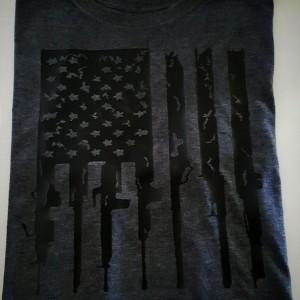 American Flag Rifle T-Shirt