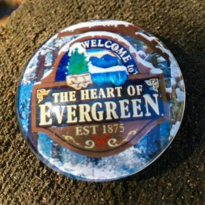 Evergreen Colorado Large Magnet, Colorado love, Evergreen Colorado, Evergreen Love, Locker Decoration, Evergreen High school,Magnetic Board