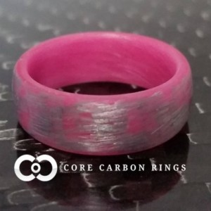 Men's or Women's Texalium Pink Glow Ring - Handcrafted - Silver Band with Glowing Interior - Custom Band widths