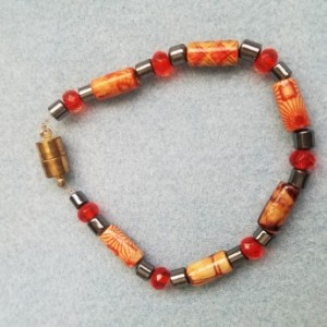 wood and hemalyke bead bracelet