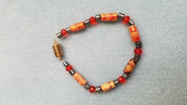 wood and hemalyke bead bracelet