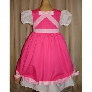 Disney Pink Cinderella Princess Dress(-----)Pink Bows and Sheer Sleeves(-----)Sizes 12M- Girls size 8