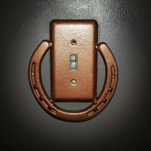 Horseshoe Light switch Cover, Rustic Home decor, Country switch plates, Rustic Horseshoe switch covers, country Home decor,housewarming gift