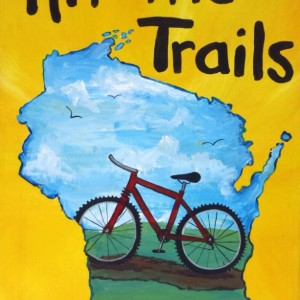 """""""Hit the Trails 2"""" original painting"""