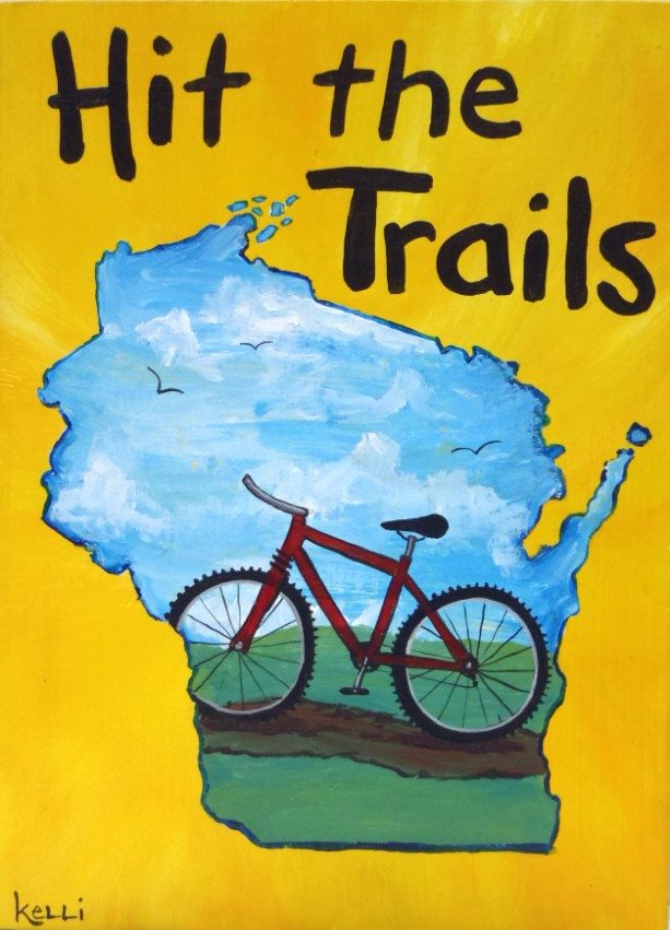 """Hit the Trails 2"" original painting"