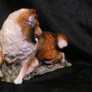 Hevener Collectible Collie Dog Figurine